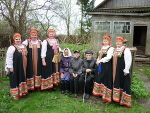 В гостях у ветерана Полякова Петра Захаровича.