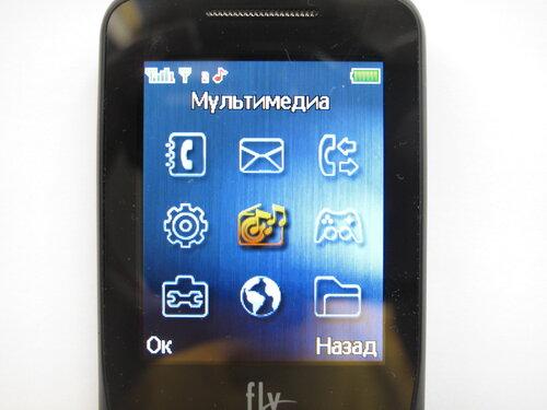 Мобильный телефон Fly DS185 - основное меню