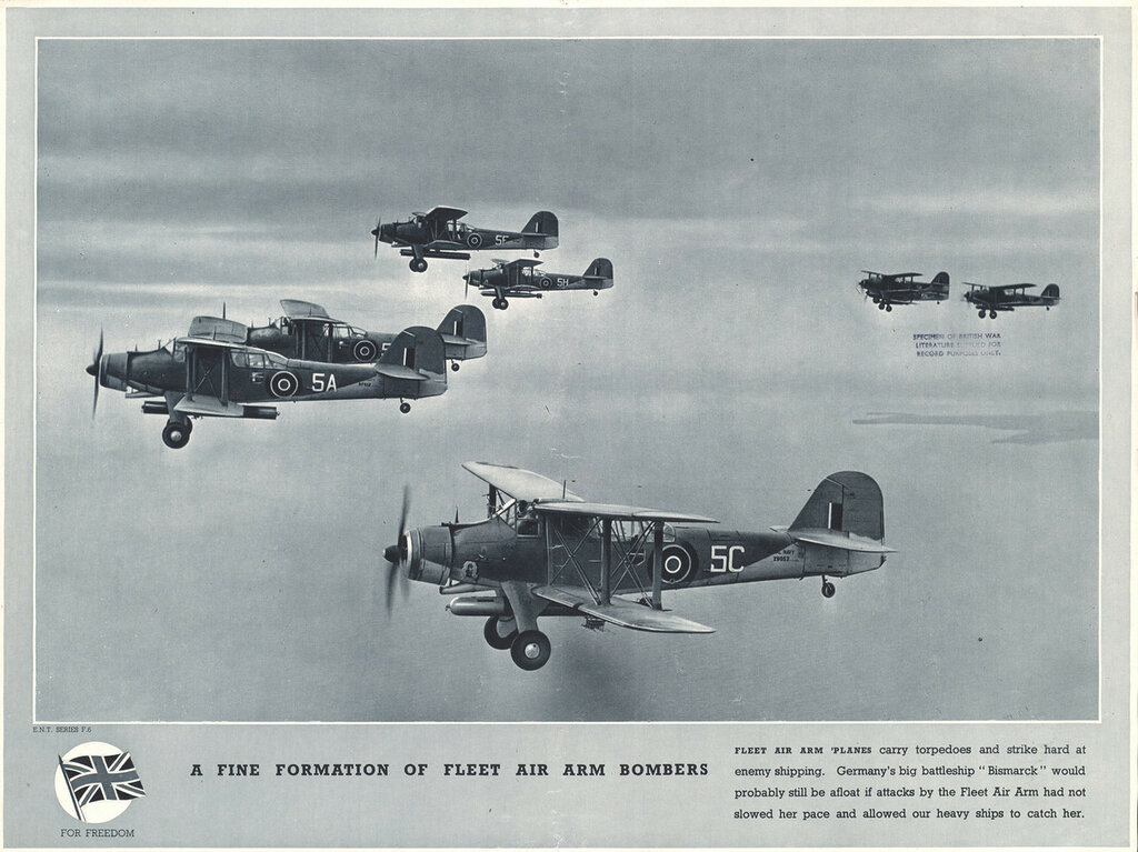 A Fine formation of Fleet Air Arm bombers
