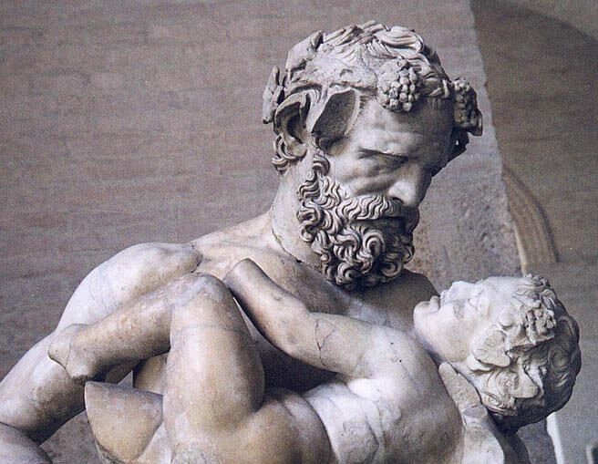 Античная скульптураВозможно, копия статуи Лисиппа, Силен и младенец Дионис