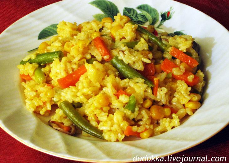 Рис с гарниром рецепт
