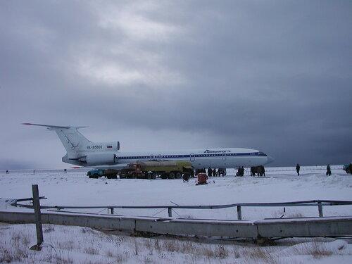 самолет в аэропорту Певека