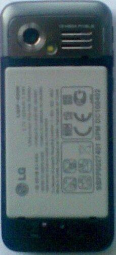 LG GX200 back