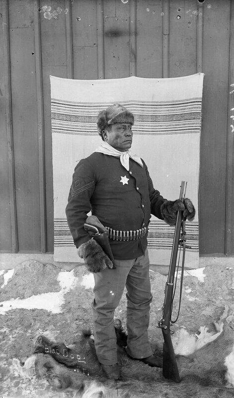 Blac (i.e. Black) Dog, Sioux policeman, Pine Ridge Agency, South Dakota, 1890 or 1891