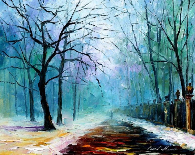 5художников, очарованных зимой