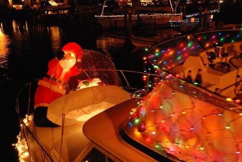Санта Клаус на яхте