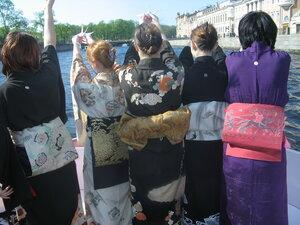 Кимоно - Нева - журавлики
