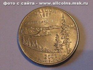 25 центов - Орегон