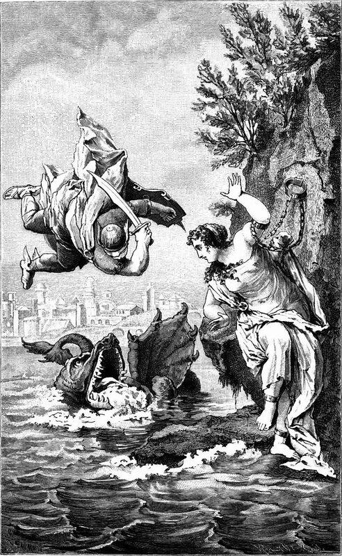 Персей и Андромеда, Gustav Schwab, фрагмент