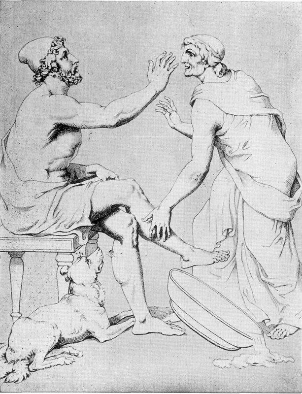 Christian Gottlob Heyne, Odysseus and Euryclea