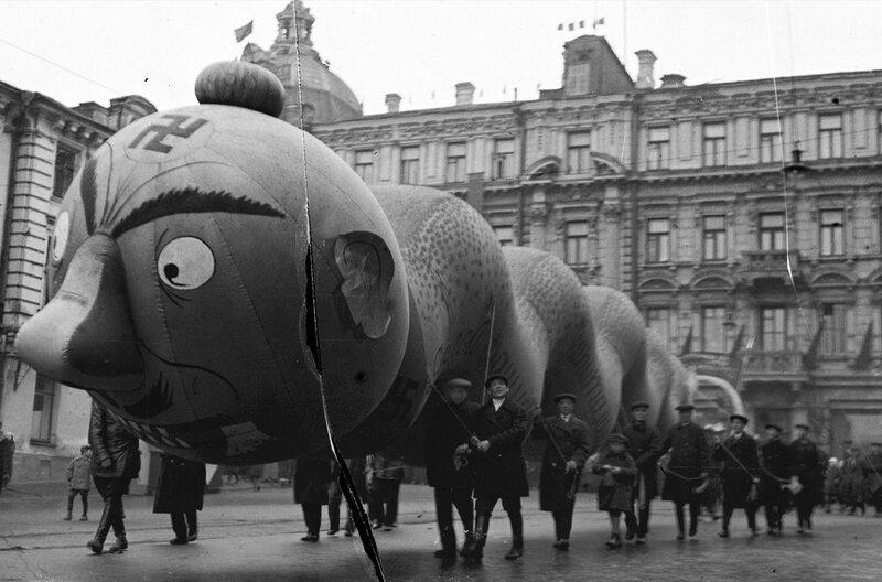 Москва, Лубянский пр-д. Демонстрация. 1934 г.