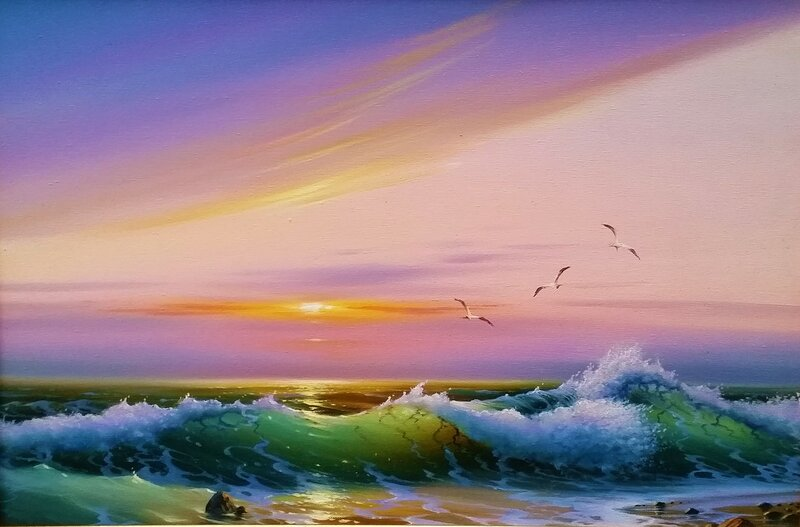 Морской пейзаж ...