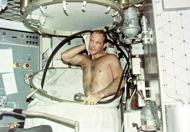 Showering on Skylab