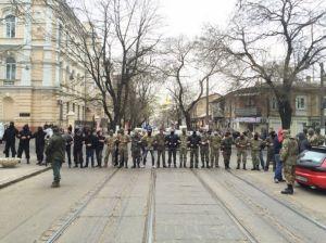 Одесские правосекторівці разогнали очередное сепаратистское действо