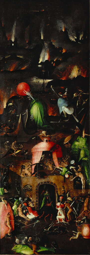 """11.4.Триптих """"Страшный суд"""" (ок.1482) (167 х 60) (Вена, Галерея Академии изящ.искусств). Правая панель. Ад.jpg"""