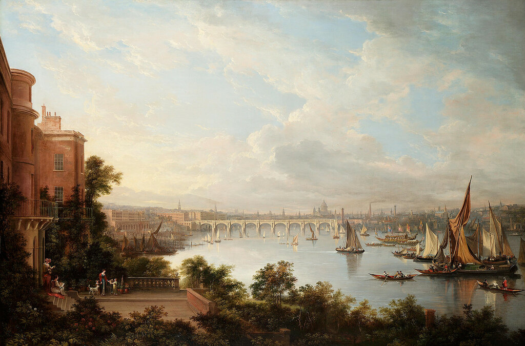 Александр Насмит - перспектива Лондона (1826)