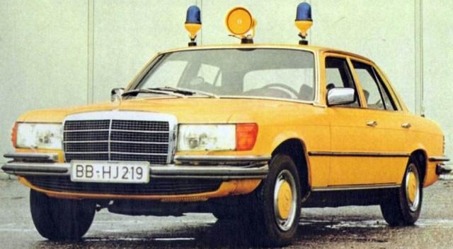 Милицейский Mercedes W116 и его оборудование