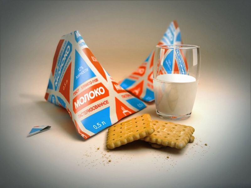 11. Треугольный пакет молока. Треугольный молочный пакет — не полностью советское изобретение. Линии