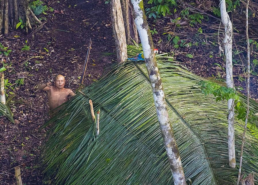 Фотограф случайно запечатлел неизвестное племя в джунглях Амазонии