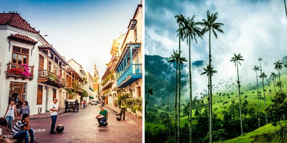 Колумбия — страна природных достопримечательностей, где есть древние индейские города, а также шикар