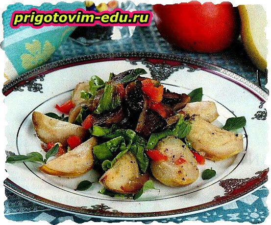 Салат из груш с шампиньонами