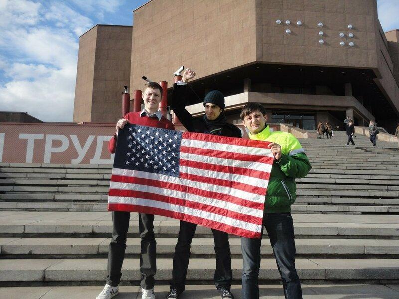американский флаг в России