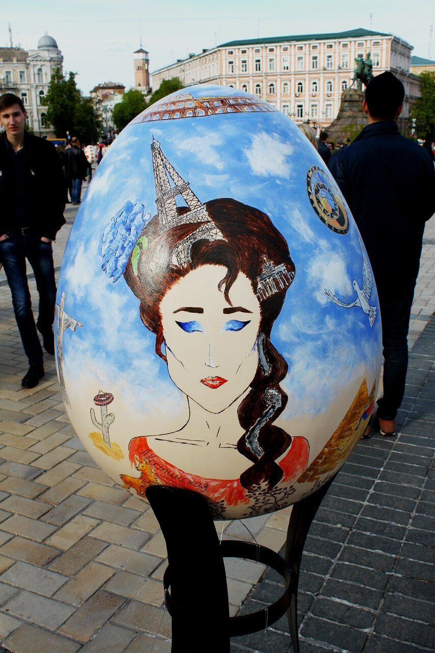 Экспонат арт-перфоманса на Софиевской площади