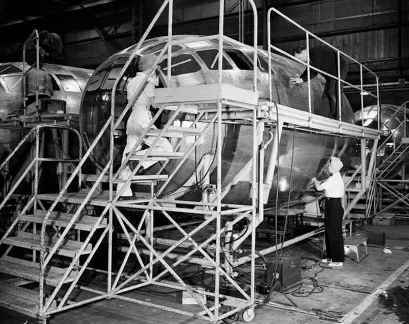 B-29 bomber production became the largest single airplane program during WWII, involving a nationwide network of manufacturing and modification plants and thousands of subcontractors.