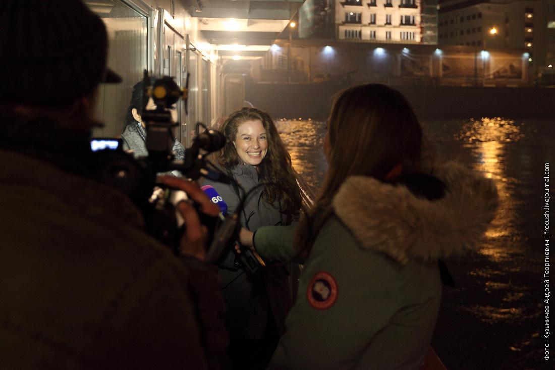 ночные фотографии открытие малой навигации по реке Москве