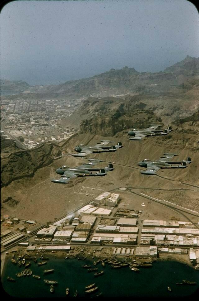 1955 Yemen Aden Protectorate - Mukalla Venom Jet Fighters by Brian Brake.jpg