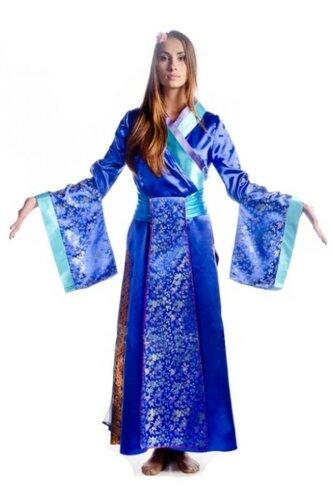 Женский карнавальный костюм Платье Гейши длинное