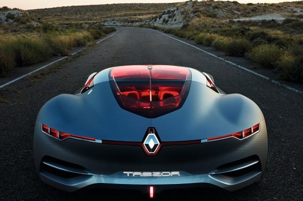 Renault Trezor Concept Гильотинные двери, распашные двери — все это старо. Концепт от Renault