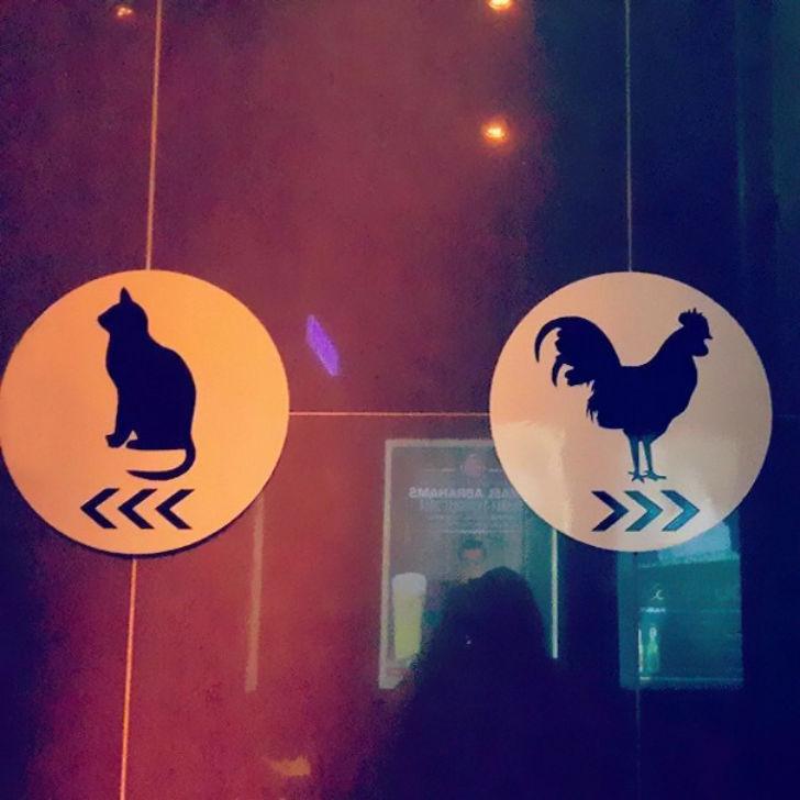 Самые креативные туалетные знаки