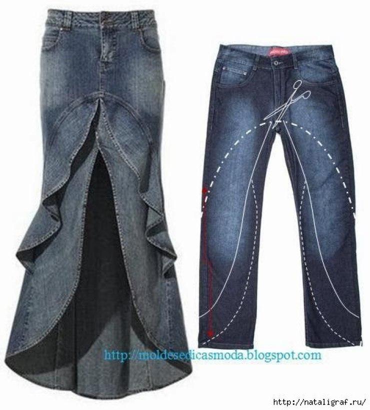 28 переделок из старых джинс