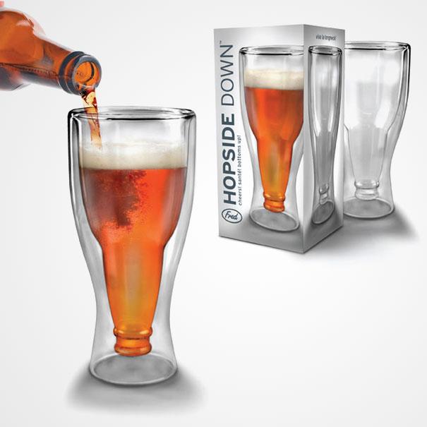 Стакан для тех, кто любит пить пиво избутылки, ноиотновшеств неотказывается. Почемубы невыпит
