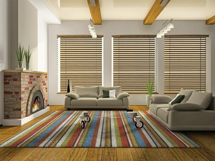 9. Уютное местечко Неповторимую обстановку комнаты прекрасно дополняет ковер с яркими параллельными