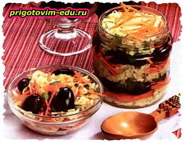 Маринованная капуста с виноградом (салат)
