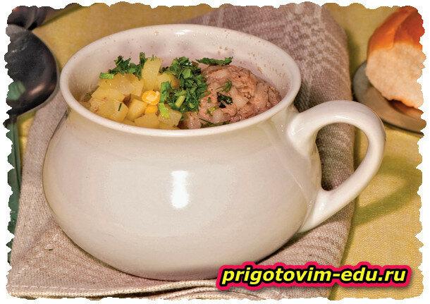 Кюфта бозбаш (суп с фрикадельками)