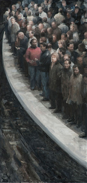 Do you take public transit? Do you ever feel lost in the crowd, alone in the center of many? I actua