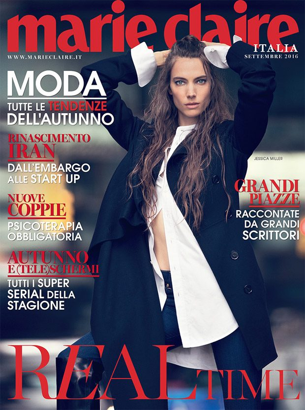 The stunning Jessica Miller stars in the cover story of Marie Claire Italia 's September 2016