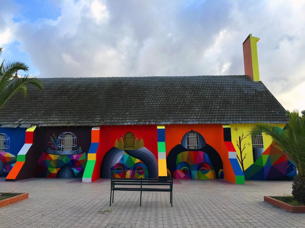 Okuda San Miguel Wraps a Moroccan Church in a Vibrant Geometric Mural