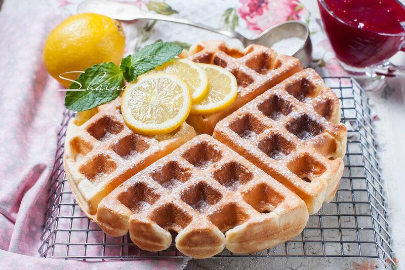 Лимонно-сметанные вафли