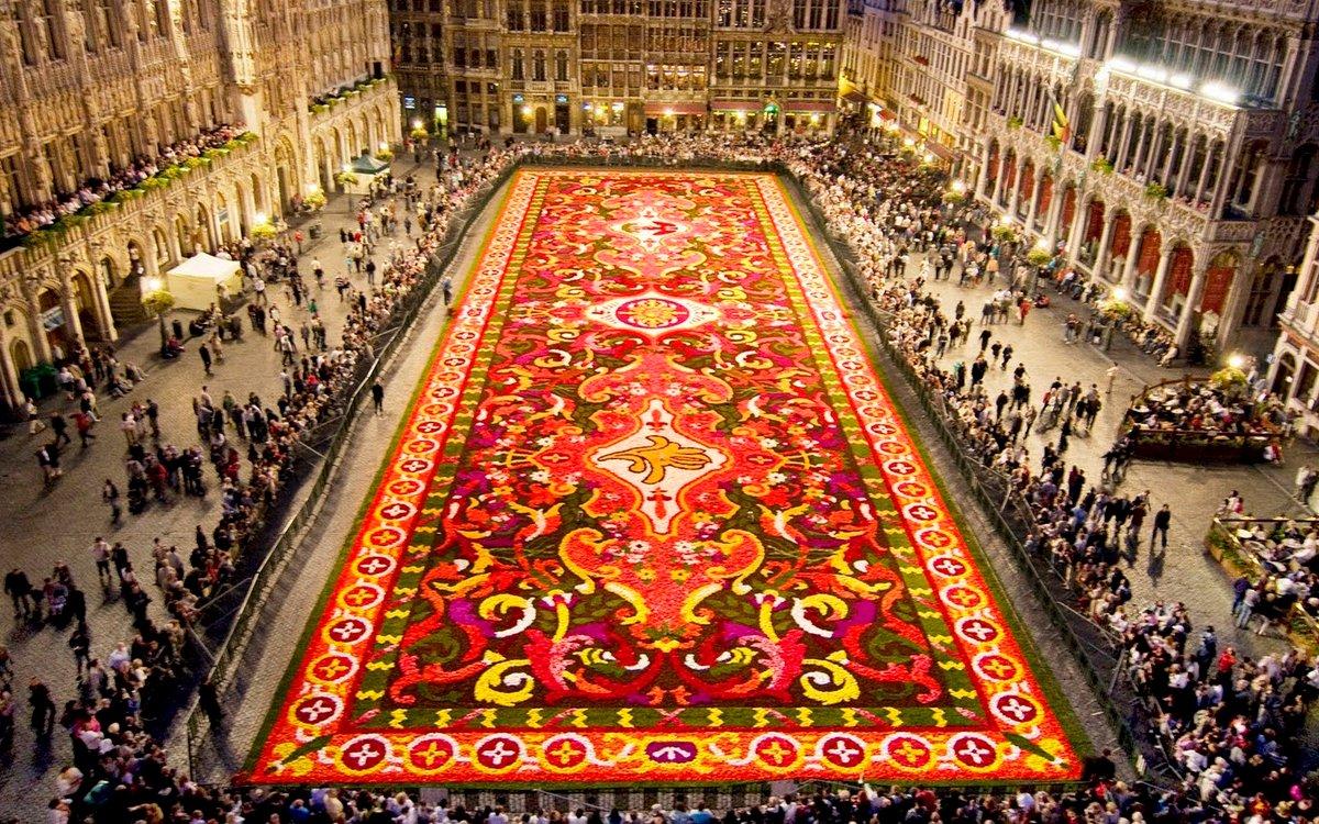 Брюссельский цветочный ковёр на площади Брюсселя