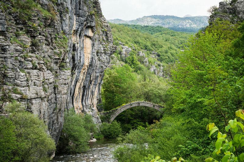 старинный каменный мост Lasaridi-Kontodimou, Загория, Греция