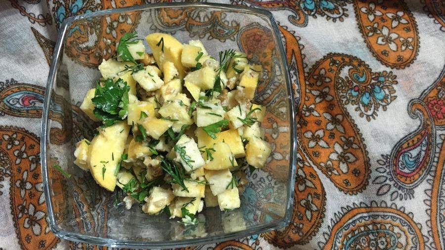 Салат из репы с хреном