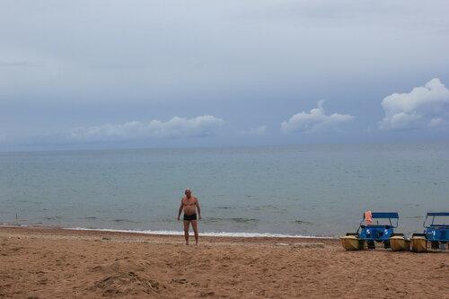 После купания в озере