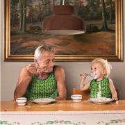 Дедуля и внучок