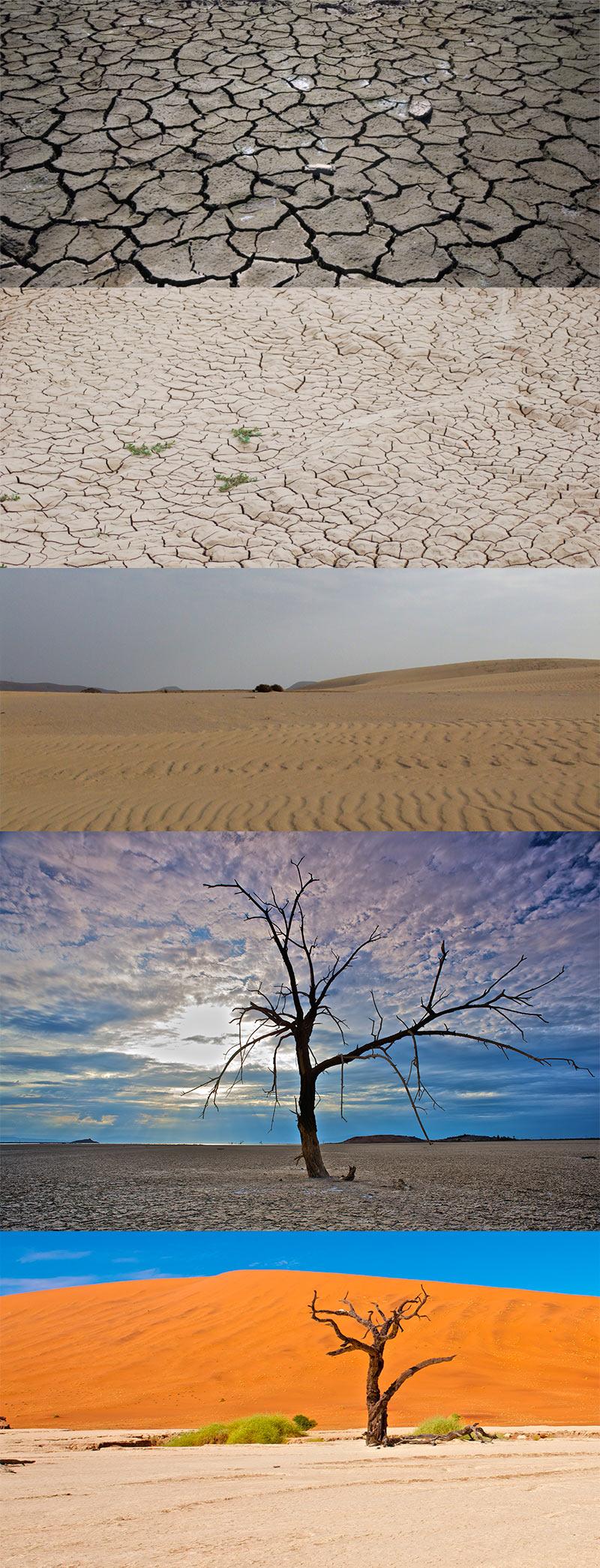 Унылые пейзажи пустыни JPG