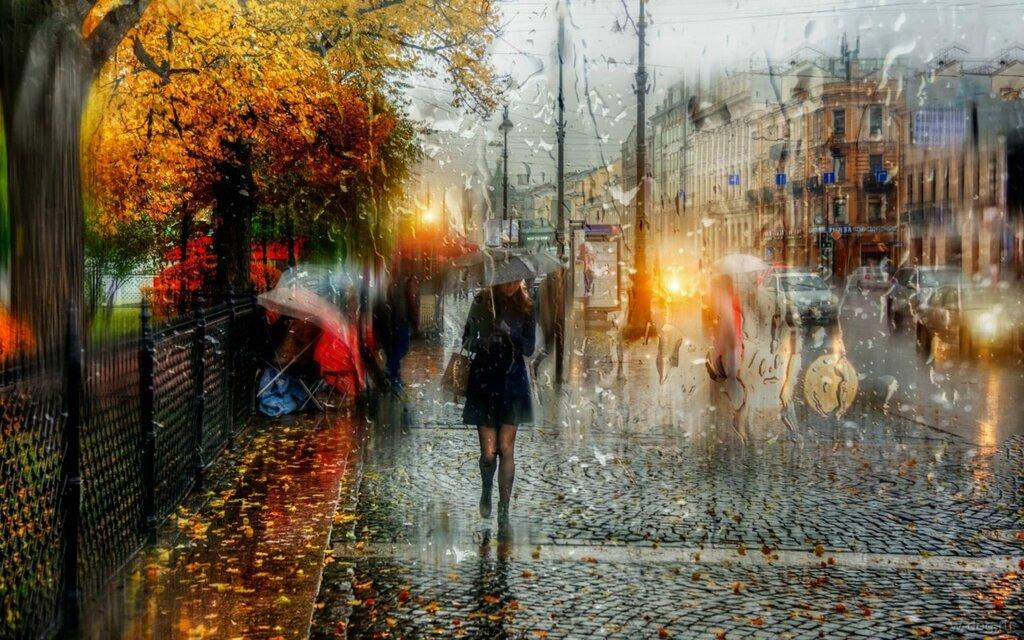 Осенний дождь (чужая фото)
