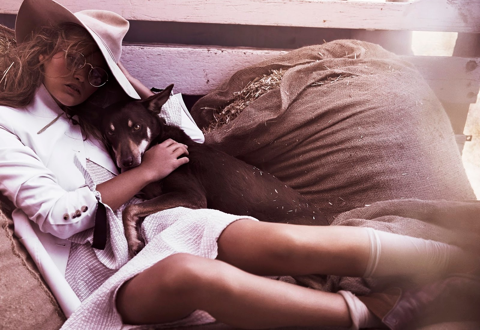 Chloe Lecareux by Steven Chee for Grazia Australia